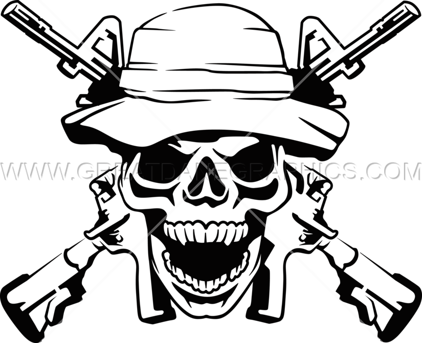 Army Ranger Skull Production Ready Artwork For T Shirt