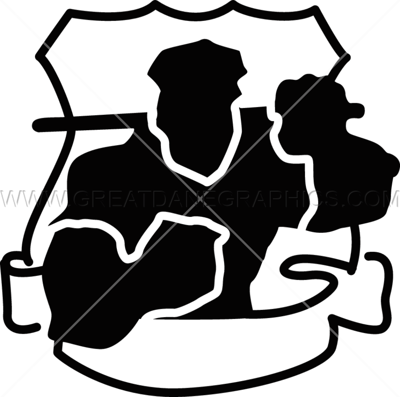 Police Officer Muscle Production Ready Artwork For T Shirt Printing
