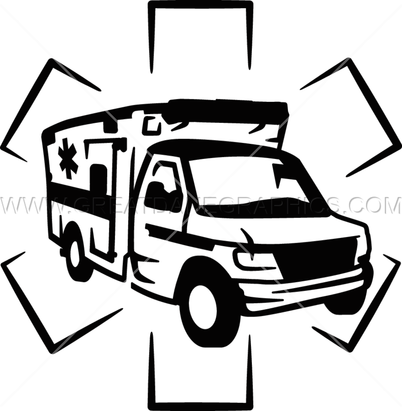 Ambulance Black And White Clipart Www Pixshark Com