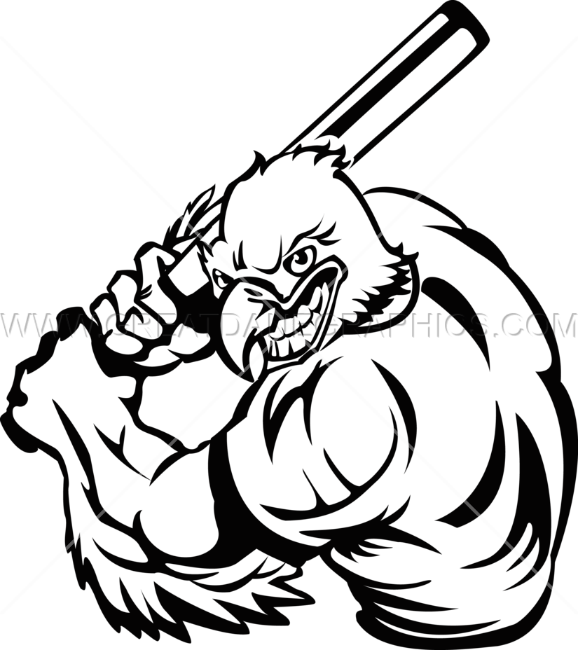 Eagle Baseball Player Production Ready Artwork For T
