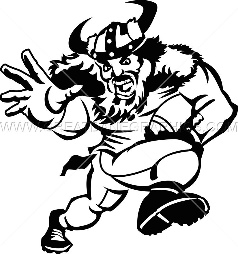 Viking Football Player Production Ready Artwork For T