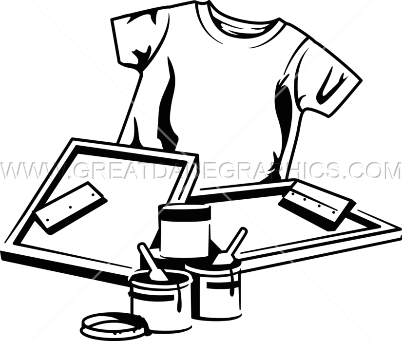 Screen Print Equipment Production Ready Artwork For T Shirt Printing