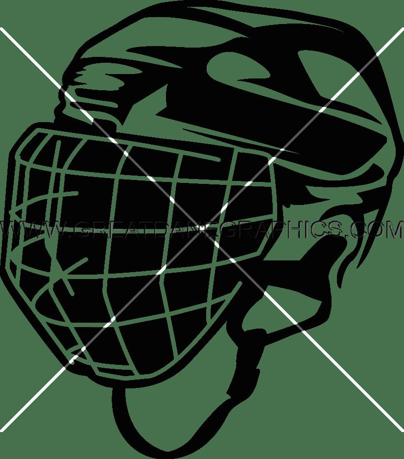 Ice Hockey Helmet Production Ready Artwork For T Shirt