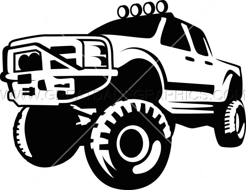 Big Tire Truck Production Ready Artwork For T Shirt Printing