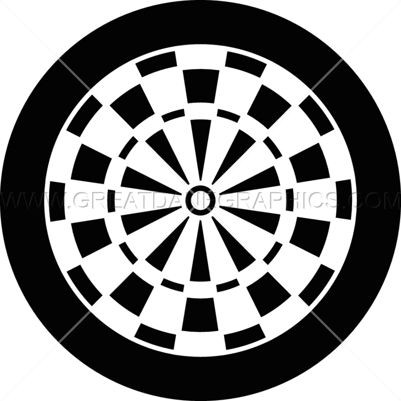 dart board flat | production ready artwork for t-shirt printing