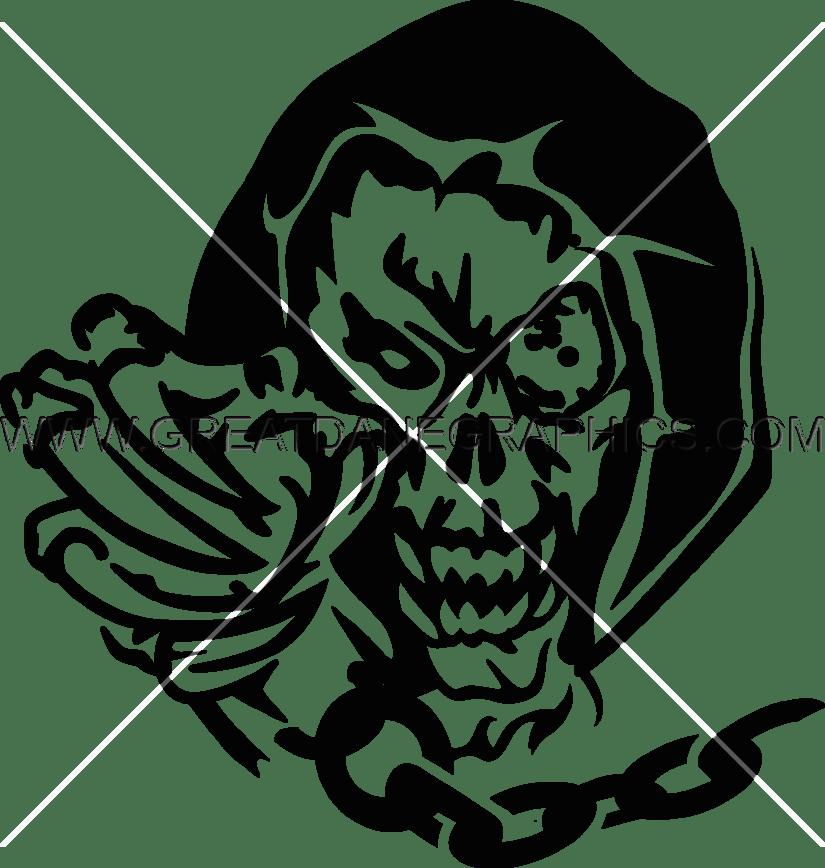 demon skull production ready artwork for t shirt printing