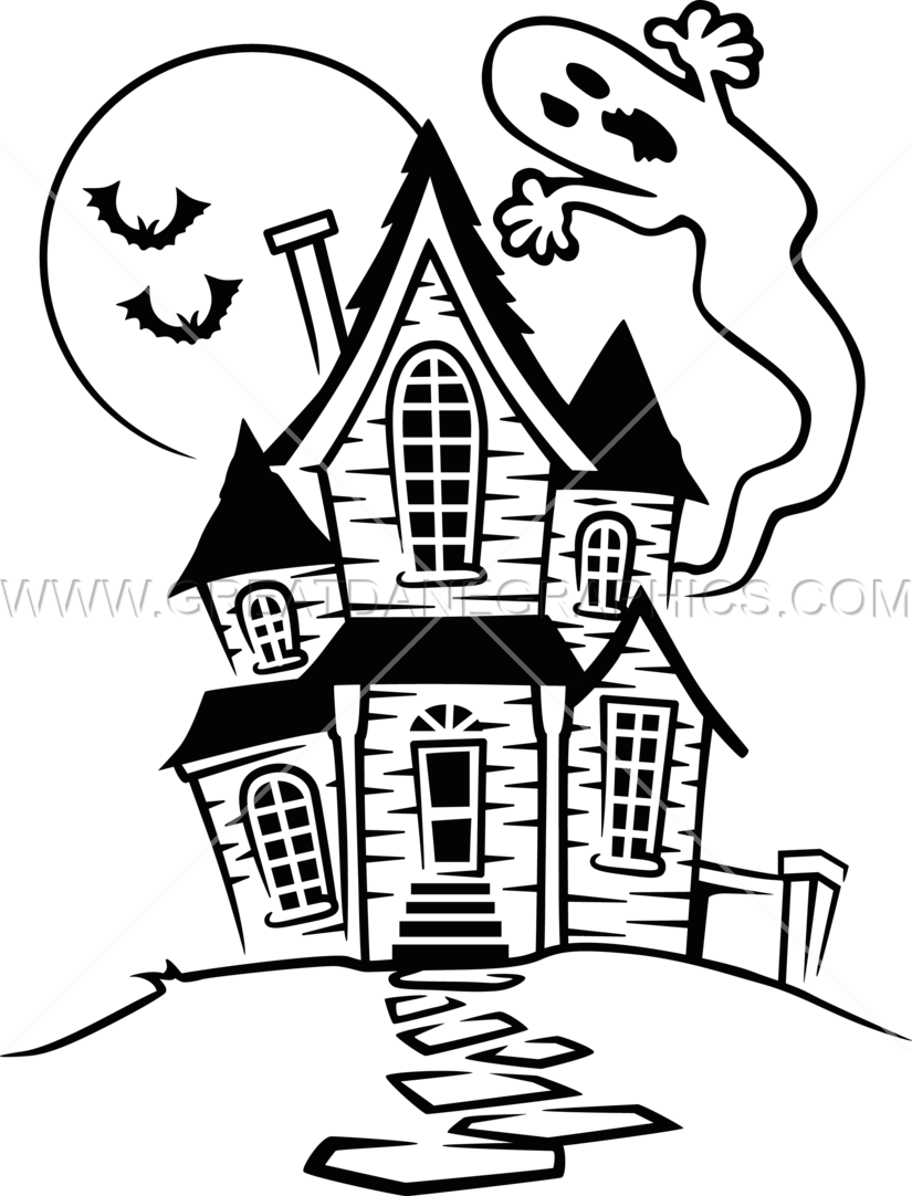 haunted house cartoon black and white wwwpixsharkcom