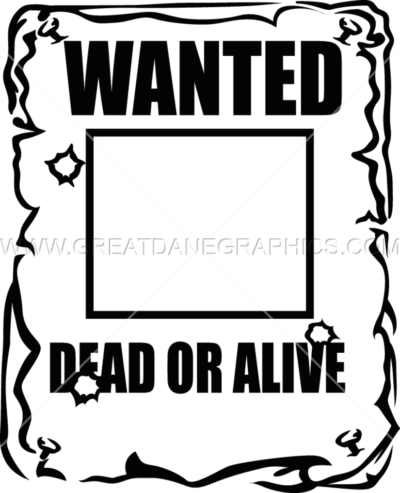 wanted poster production ready artwork for t shirt printing rh greatdanegraphics com blank wanted poster clipart most wanted poster clipart