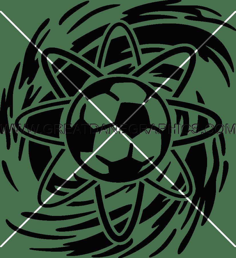 atomic soccer production ready artwork for t shirt printing Atomic Treat Ball atomic soccer