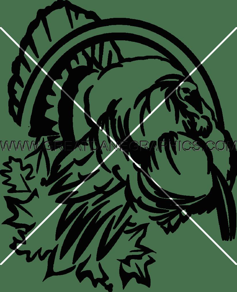 wildlife turkey production ready artwork for t shirt printing