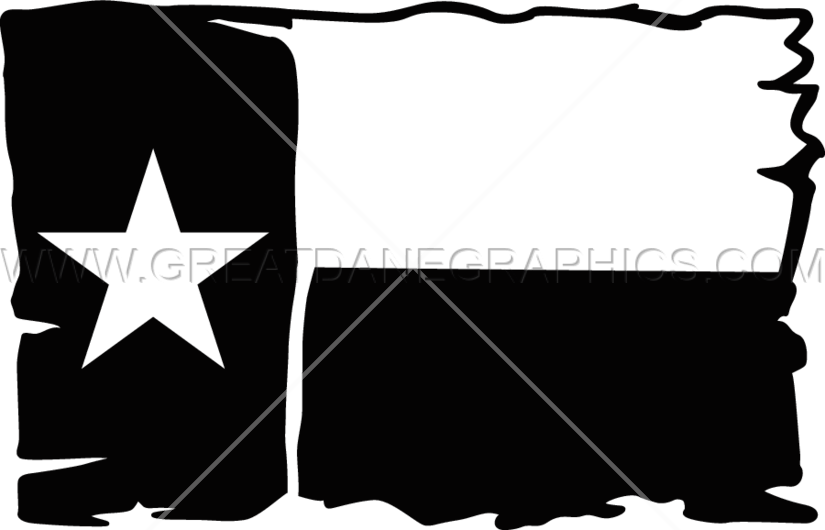 Burlap Texas Flag | Production Ready Artwork for T-Shirt Printing
