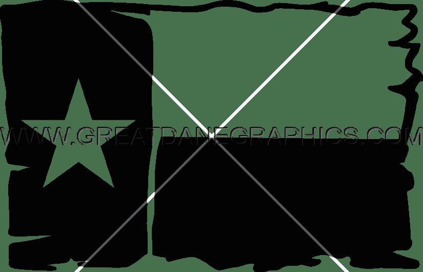 Burlap Texas Flag Production Ready Artwork For T Shirt