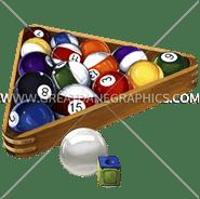 A-0356 Pool Balls & Rack Digital Printing