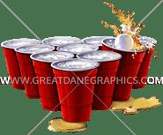 D-3574 Beer Pong Cups Digital Printing