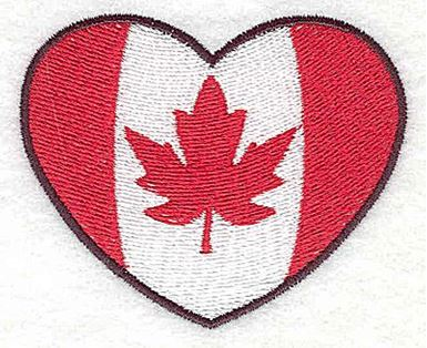 Canadian Flag In Heart Production Ready Artwork For T