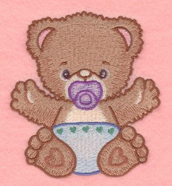 baby bear with pacifier small production ready artwork for t shirt