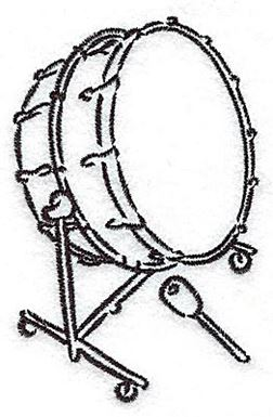 Bass Drum | Production Ready Artwork for T-Shirt Printing