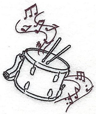 Snare Drums With Musical Notes Small