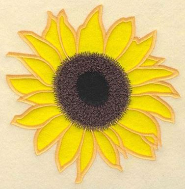 Sunflower With Double Applique Production Ready Artwork