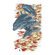 Dolphins Jumping for embroidery