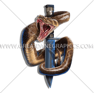 D-4101 Dagger And Snake Digital Printing