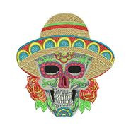 Sugar Skull Sombrero for embroidery