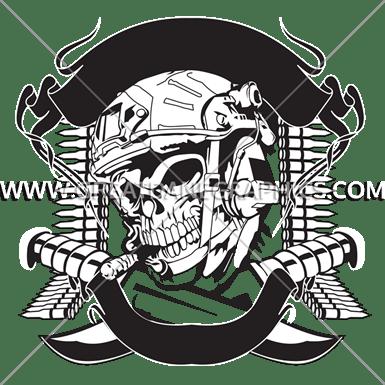 Skull Bullets Production Ready Artwork For T Shirt Printing