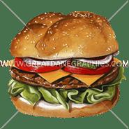 B-0929 Cheese Burger Digital Printing