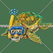 E-5066 Baby Sea Turtle Snorkel Digital Printing