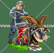 E-5140 Billy Goat Mower Digital Printing