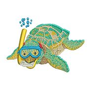 Baby Sea Turtle Snorkel for embroidery