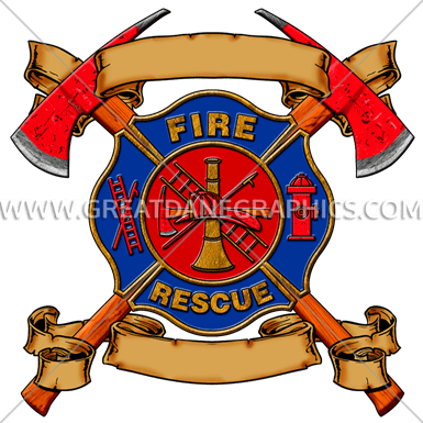 Maltese Cross With Axes Production Ready Artwork For T
