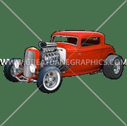 C-3157 Hot Rod Coupe Digital Printing