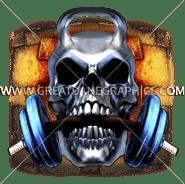 E-5170 Kettle Bell Skull Chew Digital Printing