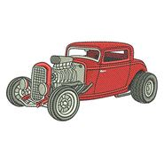 Hot Rod Coupe for embroidery