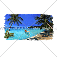 B-0899 Beach Scene Digital Printing