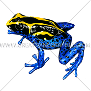 D-4005 Yellow And Blue Frog Digital Printing