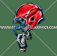 F-5492 Football New Helmet Digital Printing