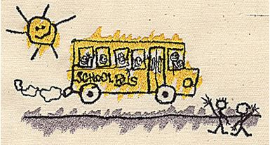 School Bus And Sun Production Ready Artwork For T Shirt
