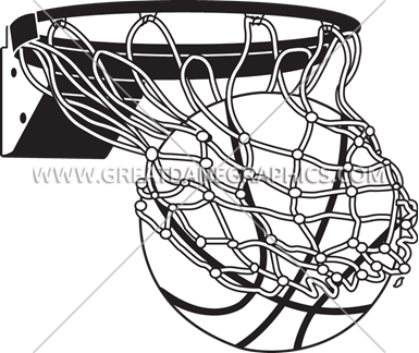 Flaming Basketball With Net | Production Ready Artwork for ...
