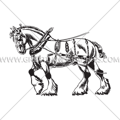 Shire Horse Production Ready Artwork For T Shirt Printing