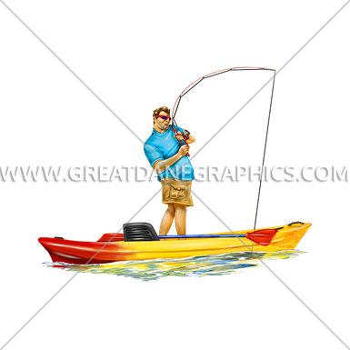 Kayak stand up fishing production ready artwork for t for Best stand up fishing kayak