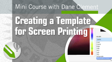 viideo mini course creating screen printing template coreldraw