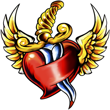 Dagger Heart Wings | Production Ready Artwork for T-Shirt ...